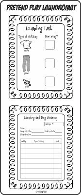 Growing Play: Freebie Playing Laundry Shop Printables