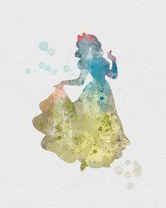 Snow White 2 Watercolor Art
