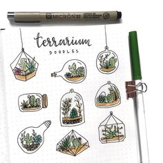 // Couple of people suggested to see some doodles of terrarium, so here is a Terrarium Version of the doodles series ☺️🌵🌿 • • • •…