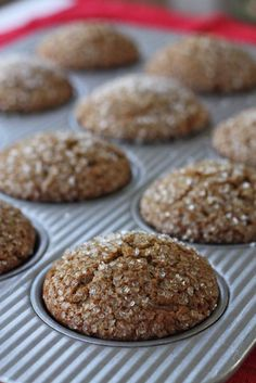Bakery Style Gingerbread Muffins ~ A bakery style muffin with bold gingerbread flavor and a moist fluffy interior. The perfect match for your morning coffee or tea. Cooked in 21 mins Added ground cloves tsp Just Desserts, Delicious Desserts, Yummy Treats, Dessert Recipes, Yummy Food, Cupcakes, Cupcake Cakes, Christmas Baking, Holiday Baking