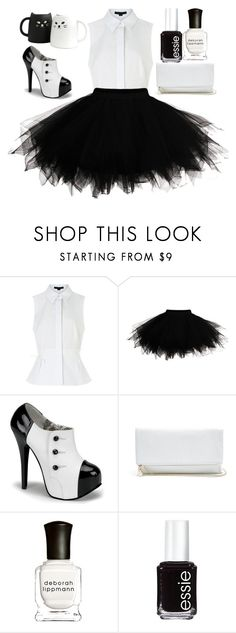"""""""Untitled #28"""" by madblood ❤ liked on Polyvore featuring beauty, Alexander Wang, GUESS, Deborah Lippmann and Essie"""