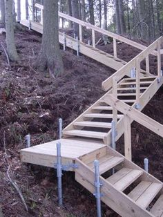 Steep Hill Stairs down to the river - yes please: