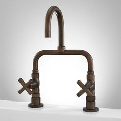 guthrie bridge kitchen faucet with cross handles oil rubbed bronze 309 for laundry also
