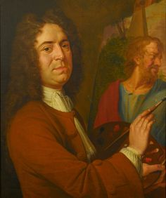 Sir James Thornhill (self portrait) at work in his studio by James Thornhill. Date painted: c.1720. Collection:  St Paul's Cathedral.