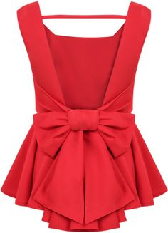 Cheap women cashmere, Buy Quality women fashion blouse directly from China women brace Suppliers: 2015 New Women Summer Poullover Sheinside Blusas Mult Red Peplum Tops, Backless Top, Bow Tops, Women's Tops, Party Tops, Dress To Impress, Ideias Fashion, Cute Outfits, Womens Fashion