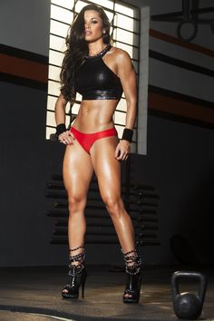 SEXY LONG LEGS & MUSCULAR AMAZON GODDESS DREAM BODY of Brazilian #Fitness Model Fernanda D'Avila : if you LOVE Health, Bodybuilding & #Fitspiration - you'll LOVE the #Motivational designs at CageCult Fashion: http://cagecult.com/mma