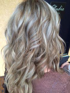 Ashy blonde highlights