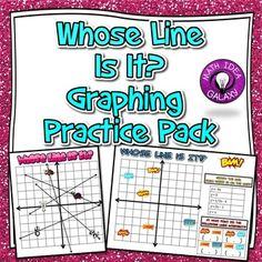 Whose Line is It? is an engaging way to get students graphing lines in slope intercept form. Great for classwork, homework, bellwork, a partner activity, cooperative learning, etc. Graphing Activities, Math Games, Systems Of Equations, Cooperative Learning, Fun Learning, Learning Activities, Secondary Math, 8th Grade Math, Math Practices