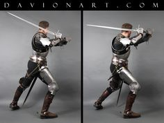 DeviantArt is the world's largest online social community for artists and art enthusiasts, allowing people to connect through the creation and sharing of art. Knight Sword, Knight Armor, Medieval Knight, Medieval Armor, Art Reference Poses, Photo Reference, Figure Reference, Sword Poses, Overwatch