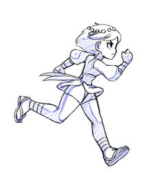 #IndivisibleRPG is an RPG / platformer, so naturally Ajna will be doing a lot of this in the game!