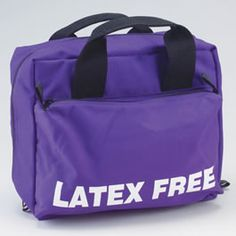 Buy Latex-Free Bag, Latex-Free Silk Screened on Outside Pocket, Purple at Bound Tree Medical Free Logo, Latex Free, Ems, Gym Bag, Medical, Purple, Logos, Stuff To Buy, House