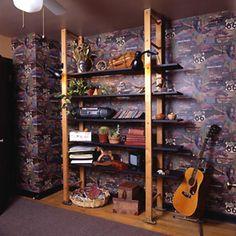 HGTV.com shows you how to create a shelf system for a small space.