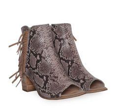 70458a1058f SAGIAKOS Peep-toe Beige Snakeskin Shoes with Fringes. Γυναικεία μπεζ  peep-toe δερμάτινα