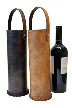 Leather Wine Valise. Wine in disguise at the Faires