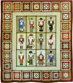 Sue Garman: The Quilts and Houston - and more. Classic Nutcrackers quilt.