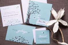 Hip en stijlvolle trouw huisstijl met RSVP, save the date, wil je mijn getuige zijn en bedankkaartjes.