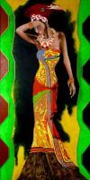 """African Lady 2""  50 x 100 cm"