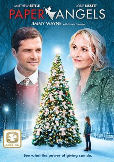 Paper Angels - Christian Movie/Film UPTV, Christmas Salvation Army / Two unlikely friends have a big impact on their families for Christmas through The Salvation Army's Angel Tree Program. Stars Matthew Settle and Josie Bissett.