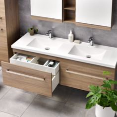 Wave Soltero - love the simple lines of sink, double layer drawer, and handle and tap combo
