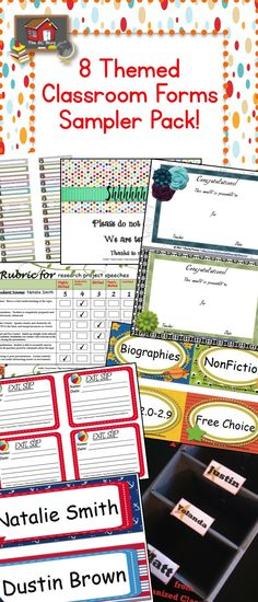 FREE Sampler Pack of classroom forms!  Just click the pin and it is yours.  Thanks for all you do teachers!  -Charity