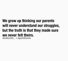 We grow up...