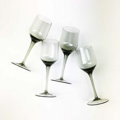 Orrefors Rhapsody Smoke Sherry Glasses 3 oz Sven Palmqvist Mid | Etsy