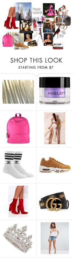 Mood Board Inspiration by aoifedoonagti on Polyvore featuring Levi's, adidas, NIKE, Michael Kors, Garrard, Gucci, Inglot, Prada and Givenchy
