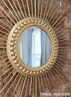 Make your own sunburst mirror