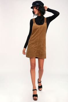 Casual Fall Outfits That Will Make You Look Cool – Fashion, Home decorating Casual Summer Dresses, Casual Fall Outfits, Casual Dresses For Women, Clothes For Women, Pretty Outfits, Cute Outfits, Corduroy Pinafore Dress, Petite Fashion Tips, Everyday Dresses