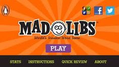 Mad Libs!  -  pinned by @PediaStaff – Please Visit ht.ly/63sNtfor all our pediatric therapy pins