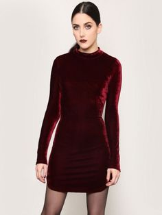 After Midnight Mini Dress - Burgundy - Gypsy Warrior