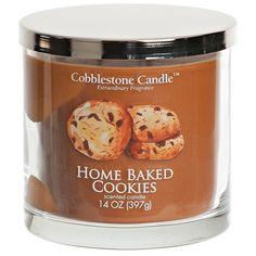 Home Baked Cookies Jar Candle (13 CAD) ❤ liked on Polyvore featuring home, home decor, candles & candleholders, fragrance candles, scented jar candles, scented candles and wick candles