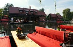 one of the marinas in the town of Lübben, Spreewald, Germany