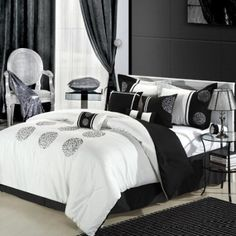 Black white Bedroom Ideas #bedroom
