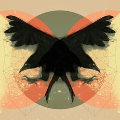 Two Crows by @Rene Zemog