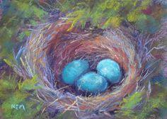 Pretty nest painting