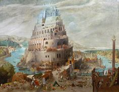 Abel Grimmer (1570-Antwerp-1619), The Tower of Babel, Antwerp, 1595. Oil on panel, 72 x 92 cm. Signed and dated Antwerp, 1595. Galerie Florence de Voldère © TEFAF Maastricht, 2016