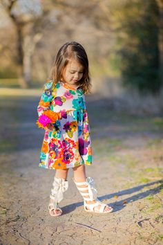 Watercolors dress by Sew Chill