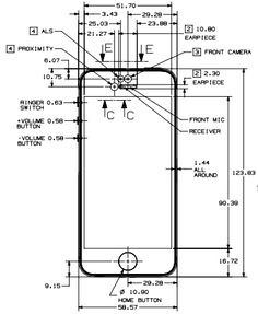 Iphone 5 Cad Dimensions 4 Beautiful The Equally If Not More So