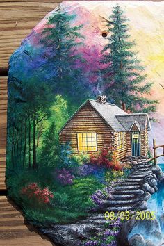 free images to paint on sawblades | CABIN IN THE FOREST CLOSE-UP | Flickr - Photo Sharing!