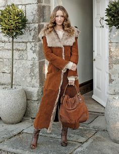 Hooded Toscana Coat, from Celtic Sheepskin