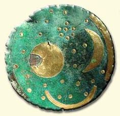 The Nebra Sky Disk of Germany (c. 1600 BC) said to be the oldest star map in the world. what are the extra crescents beside the moon and sun?