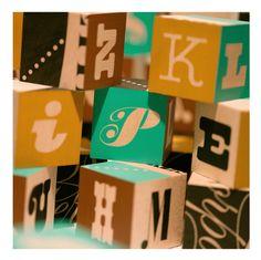 Photo-Lettering Wooden Blocks