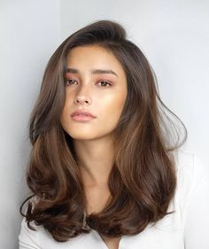 One Side Parted Wavy Human Hair Women Wig 20 Inches Wavy Hair hair Human Inches Parted Side wavy Wig Women Medium Hair Styles, Curly Hair Styles, Natural Hair Styles, Jessica Alba Haar, Cabelo Inspo, Cool Hair Color, Hair Goals Color, Gorgeous Hair Color, Hair Looks