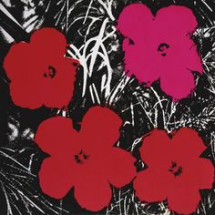 Flowers (Red and Pink), c.1964 Art Print