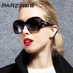 PARZIN Fashion Women Oval Polarized Sunglasses For Driving Female Brand Designer Rhinestones Sun Glasses Eyewear Accessories New