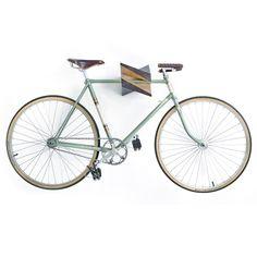 Oak Wood Bike Hanger Iceberg by Woodstick Ltd. di Woodstick