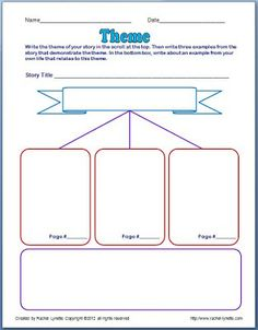 Classroom Freebies: Theme Poster and Graphic Organizer