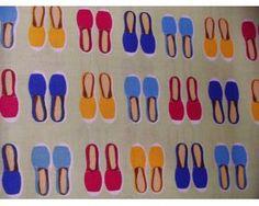 Retales Fat Quarter de Algodón con Zapatillas Cookie Cutters, Slippers, Colors