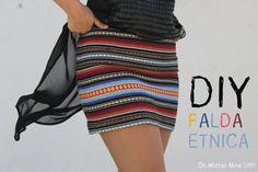 Falda con tela alpujarreña...lo de étnica es que queda mejor para vender. Pero a mi me gusta mas alpujarreña!!!